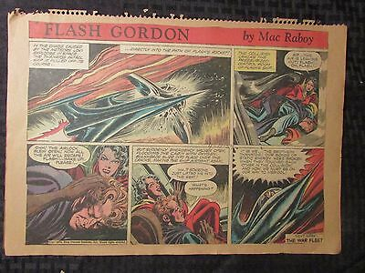 1954 FLASH GORDON Color Newspaper Strips by Mac Raboy LOT of 6 VG 4/11 - 5/16