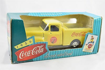 Coca-Cola 1956 FORD Diecast Coin Bank Issued 1997 - NIB