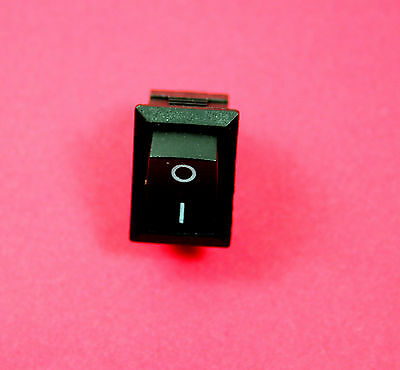 AC 6A 250V 10A 125V 2 Pin SPST On-off Snap in Boat Rocker Switch Black x 5pcs