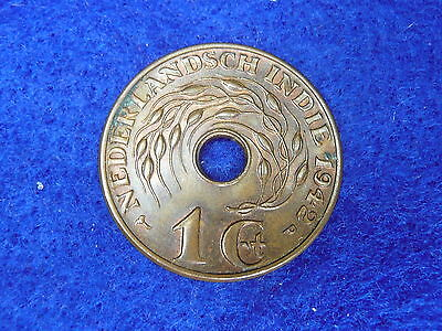 Netherlands East Indies 1942 one cent lustre