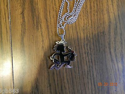 ICP Juggalo holding a severed Juggelette Head pendant w/30 inch ball chain