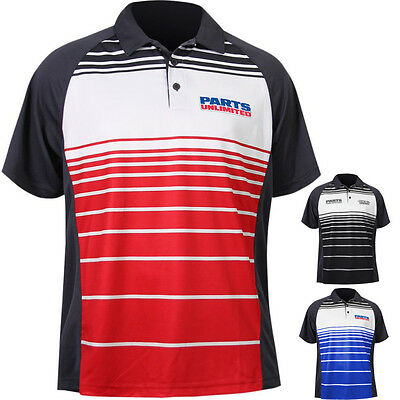 Throttle Threads Parts Unlimited Mens Polo Motorcycle Tops Button Shirts