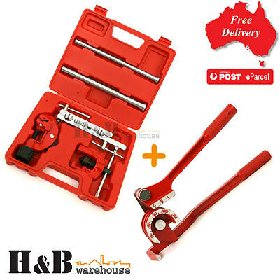 Flaring Tools 7PC Kit Pipe Cutter 180° 3 in 1 Tube Bender Plumbing Tools T0036