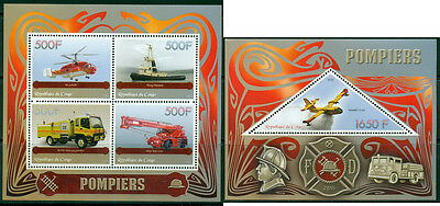 Congo - Fire engines MNH set - 4val sheet + s/s