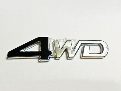 For Toyota 4WD black emblem sticker decal JDM Brand new