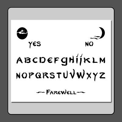 10 X 12 Ouija Spirit Ghost Board STENCIL Spooky Halloween Moons Craft