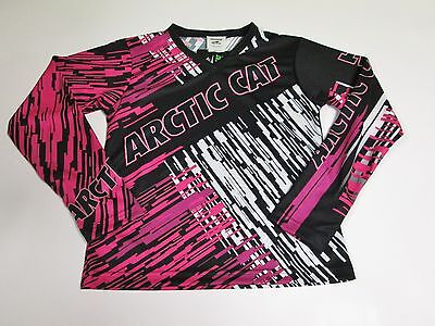 2016 Youth Arctic Cat Pink Jersey S (6-8) M (10-12)  XL (18) 5259-941 5259-940