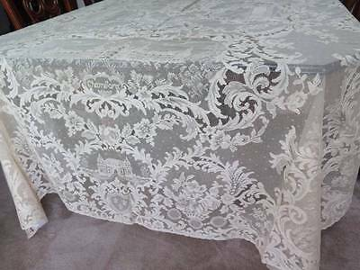 Fabulous Antique French Alencon Lace Banquet Tablecloth Napkins Set NOS Unused