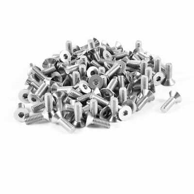 100pcs 304HC Stainless Steel Hex Countersunk Flat Head Bolts Screws M4x12mm