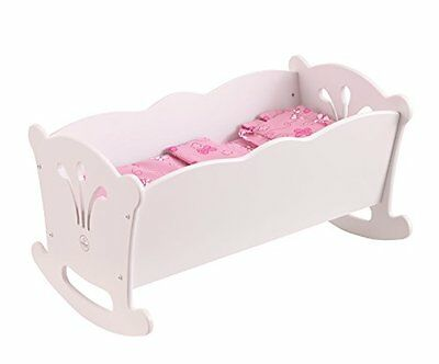 Kidkraft Girls Lil' Baby Doll Rocking Wooden Cradle Kids Play Toy Wood Furniture