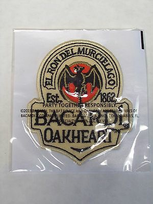 (5) Bacardi OAKHEART Rum  Patch Embroidered