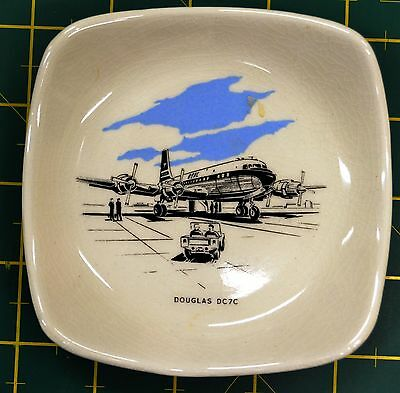 "WADE ""DOUGLAS DC7C"" PIN DISH, 115mm Sq, In Collaboration With BOAC, ESTATE ITEM"