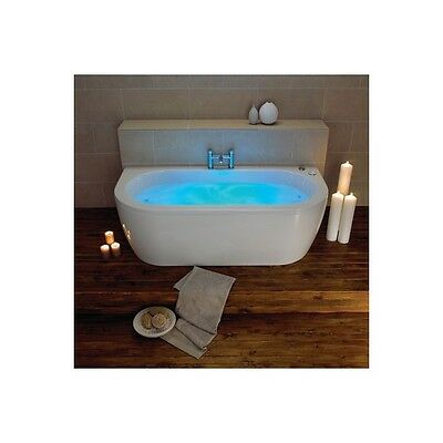 White Trojan Decadence Twin Ended 12 Jet Whirlpool Bath Chromotherapy Jacuzzi