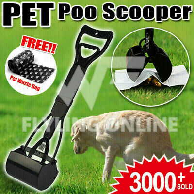 Pet Pooper Scooper Poop toilet training easy Squeeze Handle For Dog Waste POO OZ