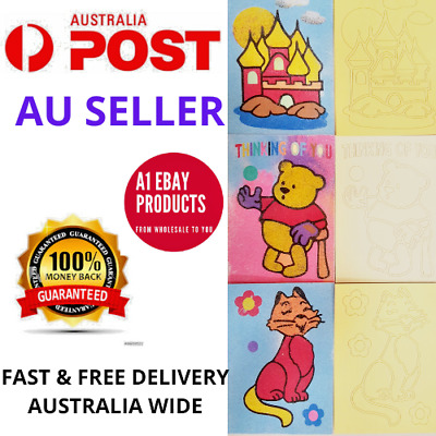 10 x Coloured Sand Art Kit for Children School Holiday, fete, gift, Fundraising