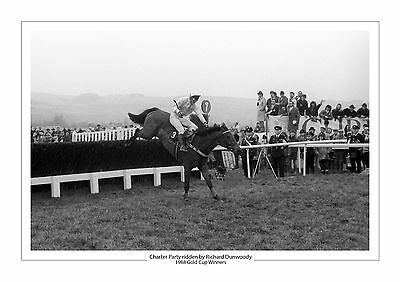 Charter Party Horse Racing A4 Photo Richard Dunwoody Cheltenham Gold Cup 1988