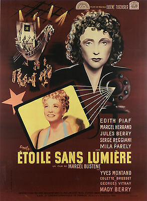 Etoile Sans Lumiere - Original French Poster - Edith Piaf - Very Rare