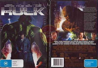 THE INCREDIBLE HULK (2008) DVD NEW Edward Norton Liv Tyler Tim Roth Stan Lee