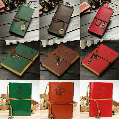 Blank Diary Notebook Journal Sketchbook Planner Book PU Leather Cover String