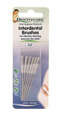 Dent-O-Care 4.0mm Interdental Brush - Pack of 6 Brushes