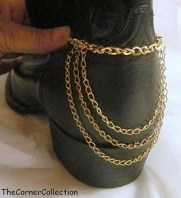 SILVER or GOLD BOOT HEEL CHAIN