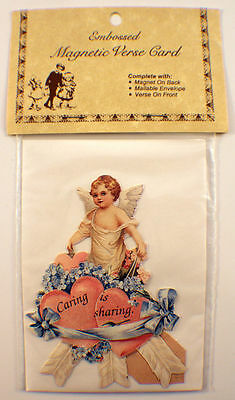 Victorian Turn Of The Century Caring Is Sharing Card Angel Heart #Mag118