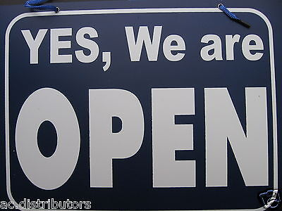 NEW SIGN -YES,We Are Open/ Sorry, We are Closed Sign Shop Door Resturant Window