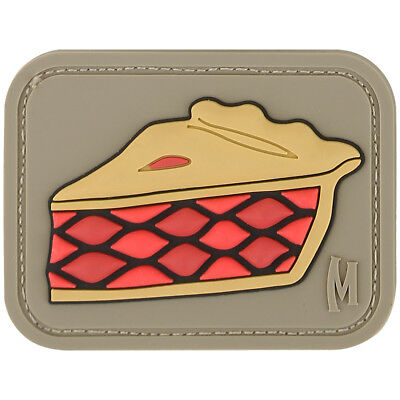 Maxpedition Pie Cake 3D Rubber Badge Military Operator Morale Patch Arid