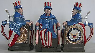 Navy Uncle Sam character beer stein