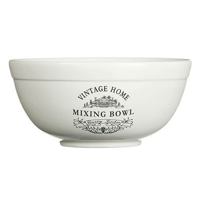 Vintage Home Mixing Bowl, 1.8Ltr, Cream Ceramic for Kitchen - NEW