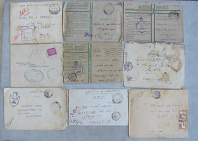 Judaica WWII Great Britain 9 Covers & 22 Letters O.A.S. M.E.F.Censorship 1942-48