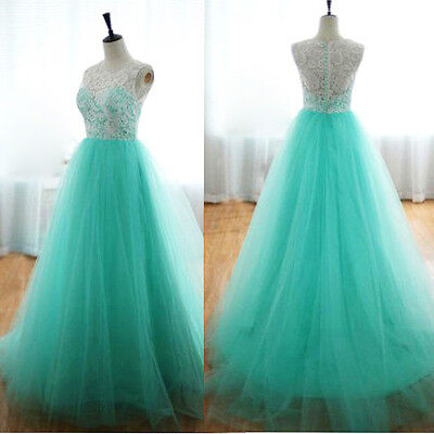 Formal Long Lace Women Prom Evening Party Cocktail Bridesmaid Wedding Maxi Dress