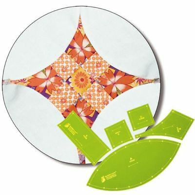 Matildas Own Curved 9 Patch Patchwork Template Set