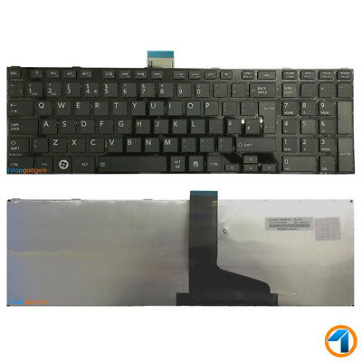 New Toshiba Satellite C850-1Kn Black Uk Replacement Laptop Keyboard Layout