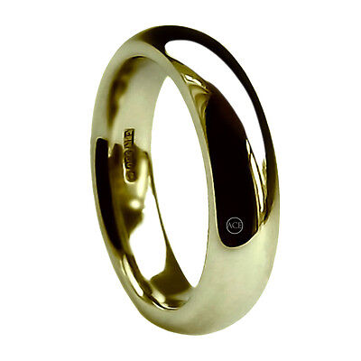 8mm 9ct Yellow Gold Court Comfort Wedding Rings UK HM 375 Extra Heavy Band NEW