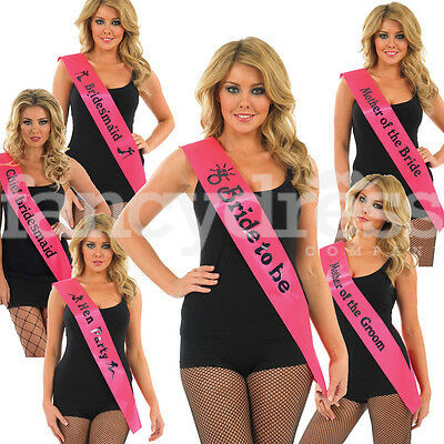 Hen Party Night Do Pink Black Sash Bride Accessories Party Sashes Gift Wedding
