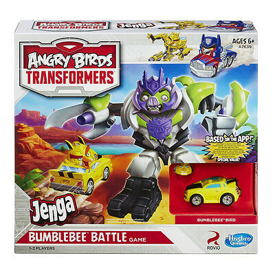 Angry Birds Transformers Bumblebee Bird Battle Jenga Game Toy