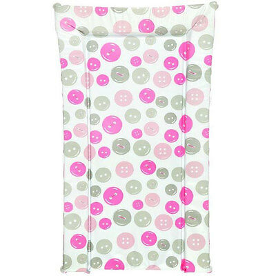 Kit For Kids Buttons Changing Mat, Pink/Grey/White