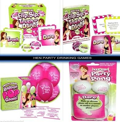 Hen Party Night Bride To Be Adult Ladies Choice Drinking Games