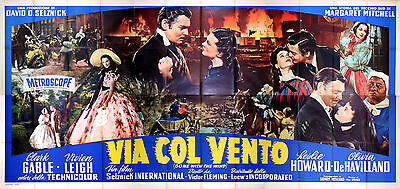 Gone With The Wind - Original Italian Poster - Very Rare