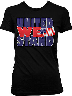 United We Stand- USA Flag Pride America July 4th Freedom Juniors T-shirt