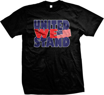United We Stand- USA Flag Pride America July 4th Freedom Mens T-shirt