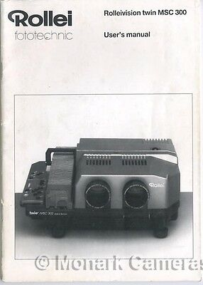 Instruction Book Manual for Rollei Rolleivision MSC300 35mm Slide Projector