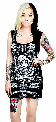 Too Fast Sailor Biker Tattoo Dress Goth Shirt Tunic Shirt Gothic Rockabilly Punk