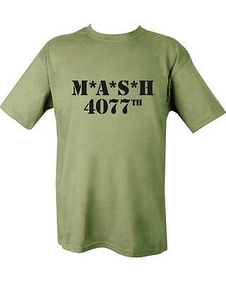 MASH 4077th T Shirt Green Military Funny Fancy Dress Airsoft Paintball