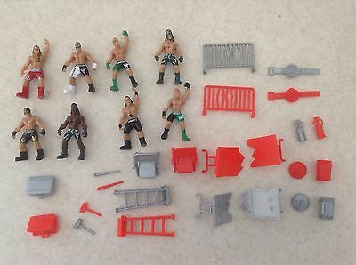 Wwe Tna Micro Mini Wrestling Figures And Accessories  - All £1 Each !