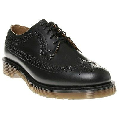 New Mens Dr. Martens Black 3989 Leather Shoes Brogue Lace Up