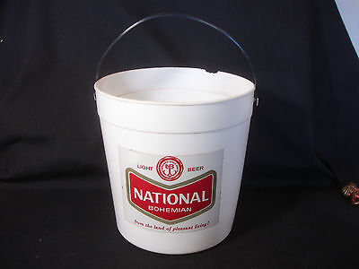Old Vtg National Bohemian Light Beer Bucket From The Land Of Pleasant Living
