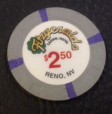 Fitzgeralds $2.50 Casino Chip Reno Nevada H & C Mold 2000 Free Shipping