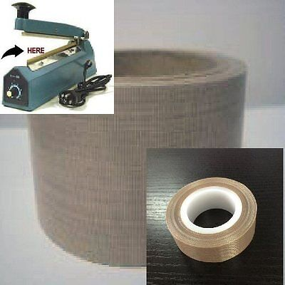PTFE Teflon NON adhesive COVER tape for Impulse Sealer 5mil & 3mil 550F made-USA